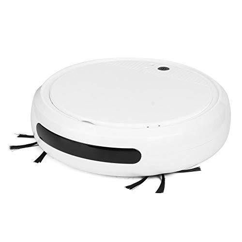 Robot de aspiración Fregona, Robot de Barrido Inteligente Ultravioleta Inteligente Multifuncional, aspiradora silenciosa de bajo Ruido para Pelo de Mascotas, Alfombra,Piso Duro,Polvo,Manchas(Blanco)