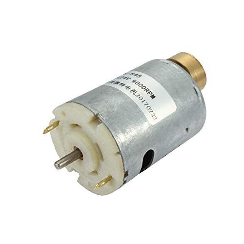 X-DREE DC 24V 9000RPM 3mmx10mm Terminales del eje 2 Vibración del cilindro de alto par de torsión (DC 12–24 V 4700rpm haute Couple Aimant masseur vibrations moteur