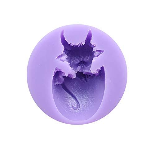 Renvopo DIY Neue süße Baby Drachen Silikonform, Kristall Epoxy Schokolade Backform, Tier Gelee Form, Süßigkeiten Form, Kuchen Dekoration Werkzeug, Harz Gips Form