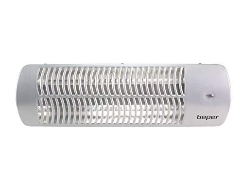 BEPER Calefactor de Cuarzo de Pared, Abs/Metal, Blanco, Mediano/Grande