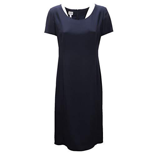 Armani 6090AC Abito Donna Collezioni Vestito Classic Blue Dress Women [IT 44]