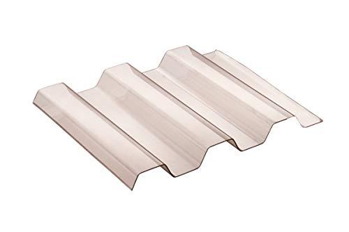 Sollux® PVC Profilplatten Trapez 70/18 rauchfarben 1095mm(B) x 2500mm(L)