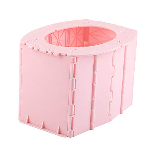 YIJU Convenient Folding Potty Toilet Seat for Toddler Indoor Outdoor Best for Parents Girls - Pink