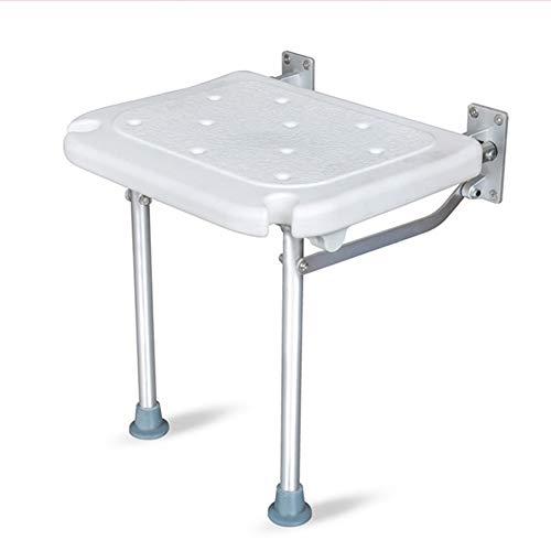 WTZWY Bad Duschstuhl Wandmontage, wegklappbare Dusche rutschfeste Sitze für Erwachsene Ältere Klappbadesitze