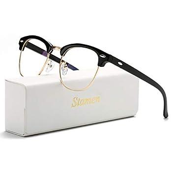 STAMEN Blue Light Blocking Glasses for Men Women Anti Eye Strain/Clearer Lens Better Sleep Computer/Gaming Blue Blocker Glasses