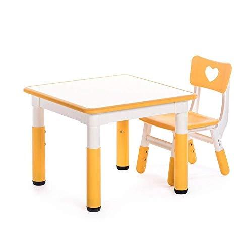 NBVCX Piezas mecánicas Juego de Mesa y Silla Multiusos para niños Juego de Muebles adaptables de 2 Piezas Escritorio de Aprendizaje para niños Escritorio de Estudio Ajustable en Altura (Color: Rojo)