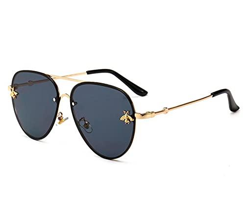 WANGZX Moda Lady Bee Gafas De Sol Gafas De Remache De Color Gafas De Viaje Al Aire Libre para Hombres Y Mujeres Uv400 Gold