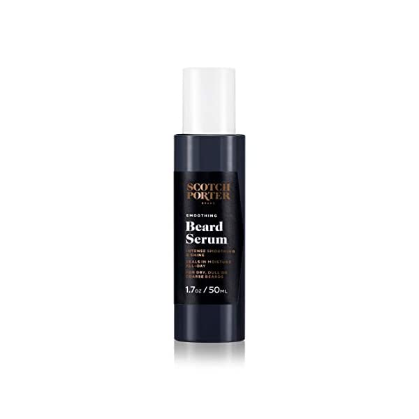 Scotch Porter Smoothing Beard Serum for Men   Grooming Beard Oil Seals in Moisture & Adds Shine   Formulated with Non… 1