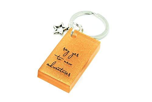 Einzigartiger Schlüsselanhänger 7 mit Spruch: say yes.