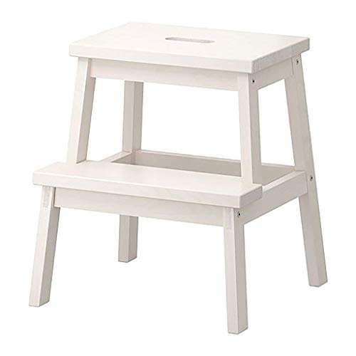 APcjerp Creativo de Madera Maciza de heces Adulto pequeño Banco Sofá heces Zapatos de Moda Bench Taburete de Paso Ascendente pie heces heces (Color: B) Hslywan (Color : A)