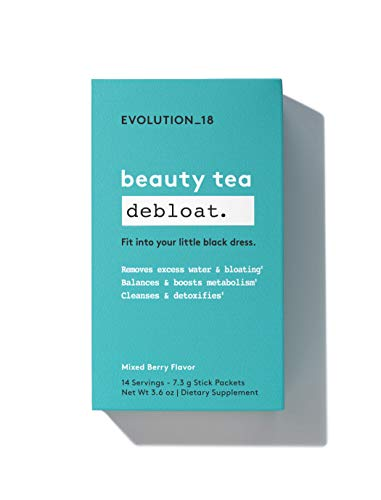 Evolution_18 Beauty Debloat Tea | Cleanse, Detox & Boost Metabolism | Mixed Berry Flavor | 7.3 g (14 Servings)