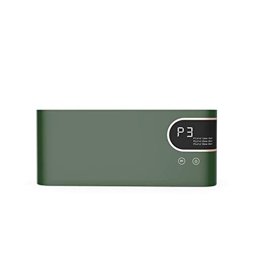 Purificatore d'Aria, 3 Modalità Generatore di Ozono, 100mg/h Ozono Purificatore Aria, Ionizzatore Aria Casa per Rimozione di Formaldeide/Virus/Polvere/Odore di Sigaretta/Benzene/Particolato (Verde)