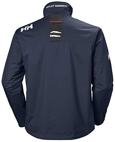 Helly Hansen Crew Midlayer Chaqueta deportiva impermeable, Hombre, Azul (Azul Navy 597), L