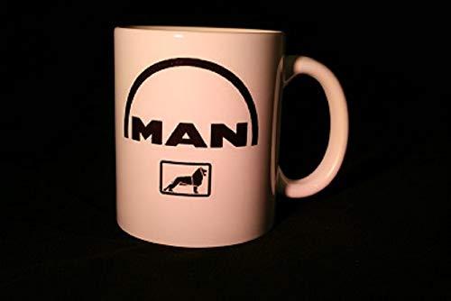 Schilderfeuerwehr Kaffeetasse Tasse mit LKW/Truck Logos und Texten/Sprüche (Man)