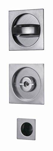 VI.TEL. - Kit con Cerradura de Color Cromo Satinado para Puertas correderas, E0374N 51