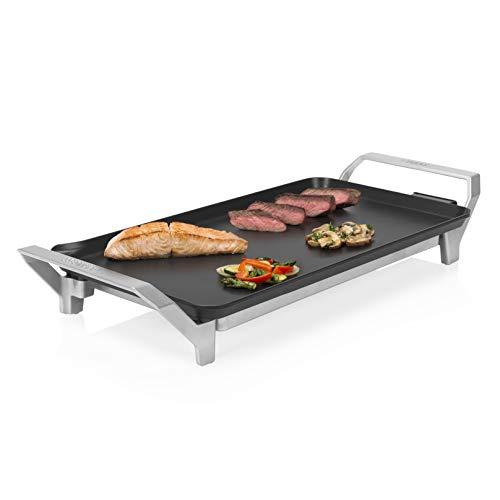 Princess Tischgrill Premium – leicht zu reinigende Teppanyaki-Grillplatte mit 0,9M Kabelzuleitung/ mit Cooltouch Handgriffel, 103100