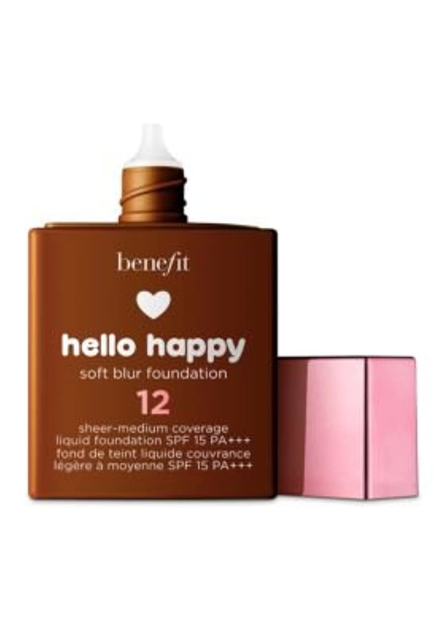 部分的発火するレスリングBENEFIT COSMETICS Hello Happy Soft Blur Foundation (12 - dark warm)