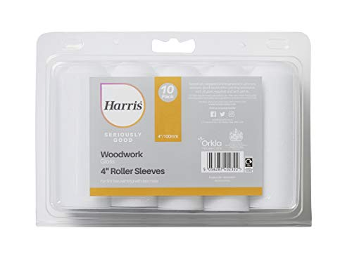 Harris 102022001 Seriously Good Woodwork Juego mini rodillos (10 unidades), 10 x 4 Gloss Roller Sleeves