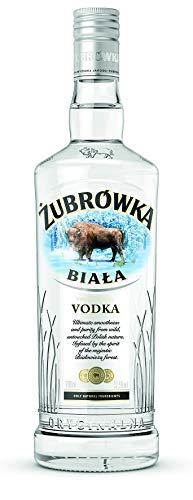 ŻUBRÓWKA BIAŁA Vodka (1 x 700 ml), polnischer Vodka mit der Kraft des Bisons, kristallklarer Vodka aus den Wäldern Polens, ideal für Cocktails und Longdrinks, Polens meistverkaufter Vodka, 37,5 % Alk.