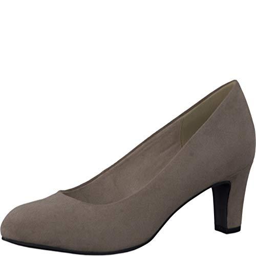 Tamaris Schuhe 1-1-22454-38 Bequeme Damen Pumps, Sommerschuhe für modebewusste Frau, braun (Pepper), EU 38