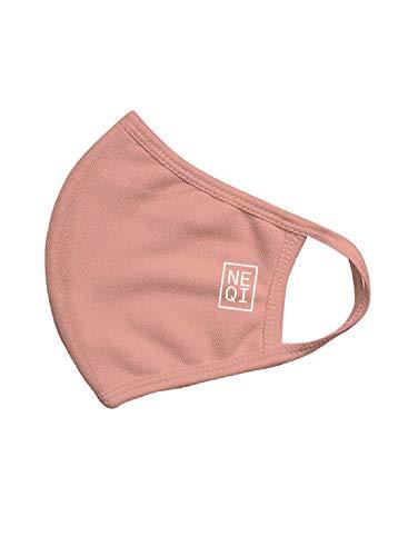 neqi - Mundschutzmasken Pink | 1 x 3 Stück - Größe S-M | Eine Packung mit jeweils 3 wiederverwendbaren Behelfsmasken für Erwachsene