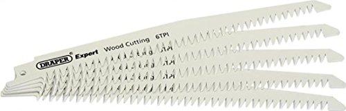 Draper Expert 02307 250 mm - 6 dents Par pouce-Bi-métal-Lames de scie alternative pour le bois (lot de 5)