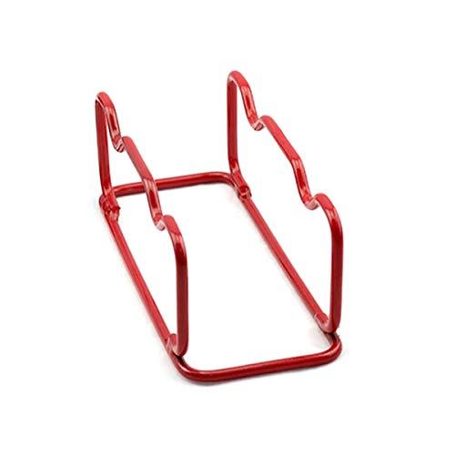 HAOXUAN Hantelgestell Stahlgewichte Hanteln Stark und langlebig Nicht leicht zu rosten Indoor Outdoor Gym Langhantel Aufbewahrungsständer Zubehör,Rot