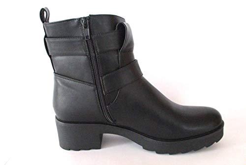 Even & Odd Damen Schuhe Stiefeletten Schwarz, Größe:41