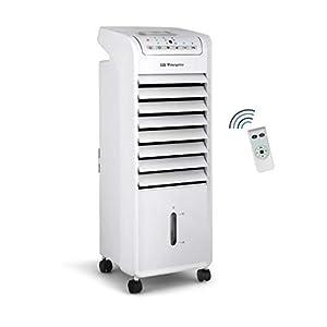 Orbegozo Air 46 Climatizador evaporativo 3 en 1, 3 velocidades, Temporizador, acumuladores de frío, depósito de 6 l, Mando a Distancia, silencioso, 55 W, plastico/Metal