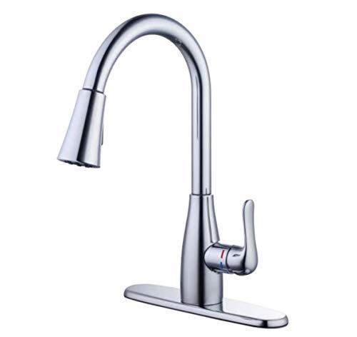 Glacier Bay McKenna Kitchen Faucet with Single Handle Pull-Down Sprayer (Chrome)