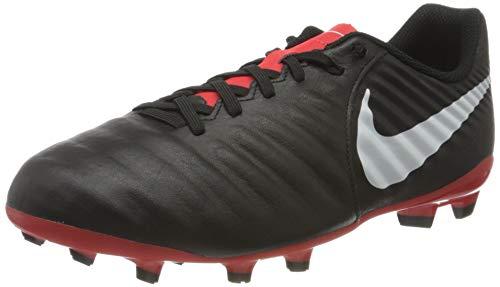 Nike Jr Legend 7 Academy FG, Zapatillas de Fútbol Unisex Niños, Negro (Schwarz/Weiß/Rot Schwarz/Weiß/Rot), 36.5 EU