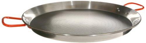 Garcima C-26RED 26-Inch Carbon Steel Paella Pan, 65cm, 1