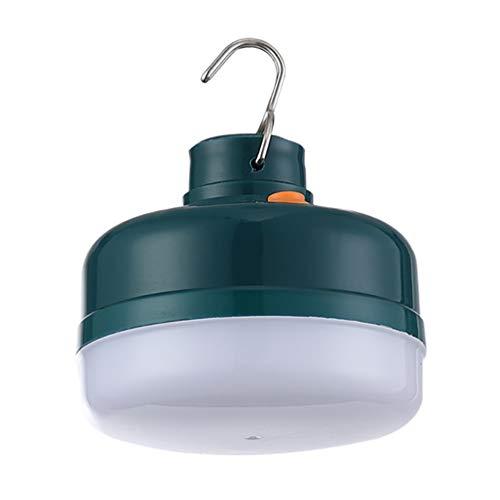 WINOMO Lámpara de camping para exteriores, recargable, 150 W, LED, magnética, para tienda de campaña, senderismo, mercado nocturno, suministro de emergencia (verde y blanco)