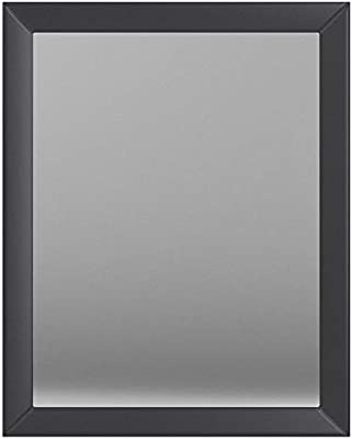 AmazonBasics Rectangular Wall Mirror 41 x 51 cm - Standard Trim, Black