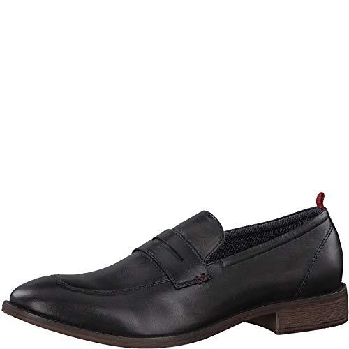 s.Oliver Herren Slipper 14200-20,Männer College Schuh,Loafer,Halbschuh,elegant,Business-Schuh,Anzugschuh,Büro-Schuh,Blockabsatz 2cm,Black,44 EU