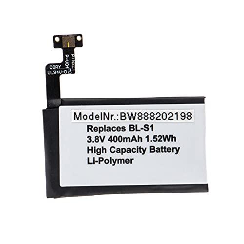 vhbw Batería Recargable reemplaza LG BL-S1 para smartwatch, Reloj de Actividad (400 mAh, 3,8 V, polímero de Litio)
