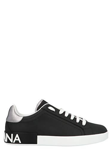 Moda Dolce E Gabbana Hombre CS1760AH5278B979 Negro Cuero Zapatillas | Temporada Permanente
