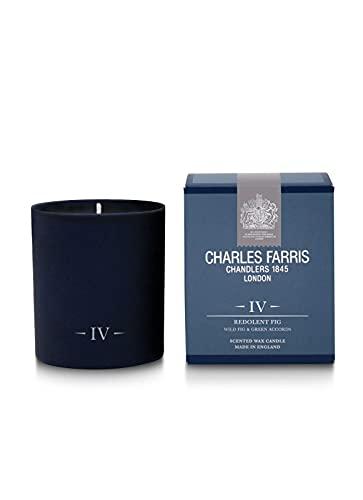 Charles Farris 'Redolent Home Vela perfumada con Aroma de higos, Vidrio, Color Azul