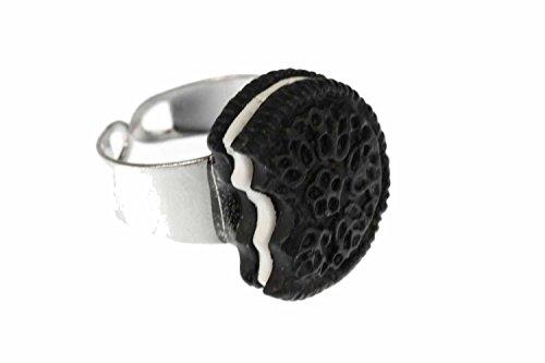 Miniblings Keks Cookie Doppelkeks Ring - Keks Cookie Doppelkeks - Handmade Modeschmuck I Fingerring mit Motiv I verstellbar one Size