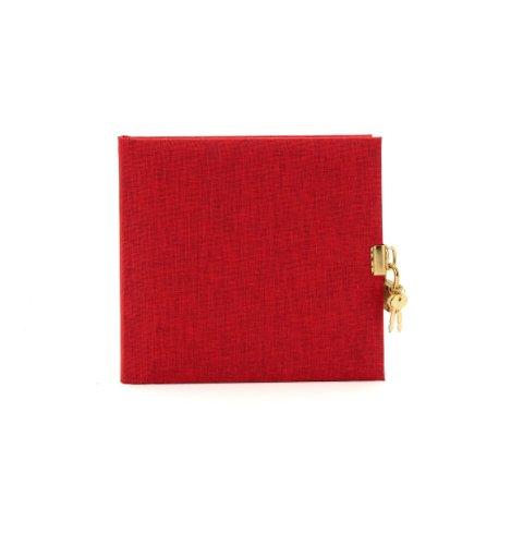goldbuch Tagebuch, Summertime, 96 weiße Seiten, 16,5 x 16,5 cm, Schloss mit 2 Schlüsseln, Leinen, Farblich sortiert, 44704