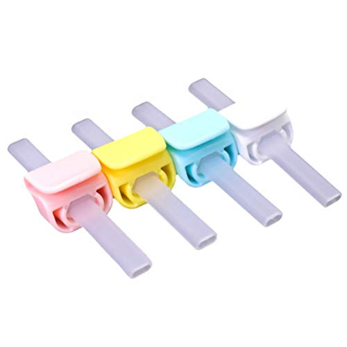 TOYANDONA 4 Piezas de Pajitas de Silicona Pajitas Reutilizables Flexibles Plegables Masticables...