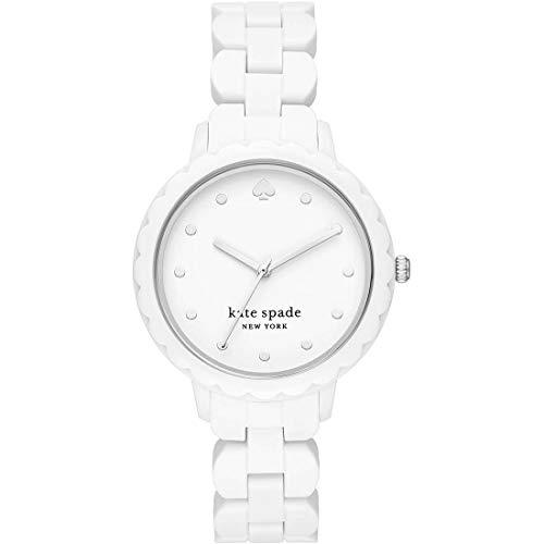 kate spade new york Morningside dreihändiges weißes silikonarmband für Frau Uhr KSW1608