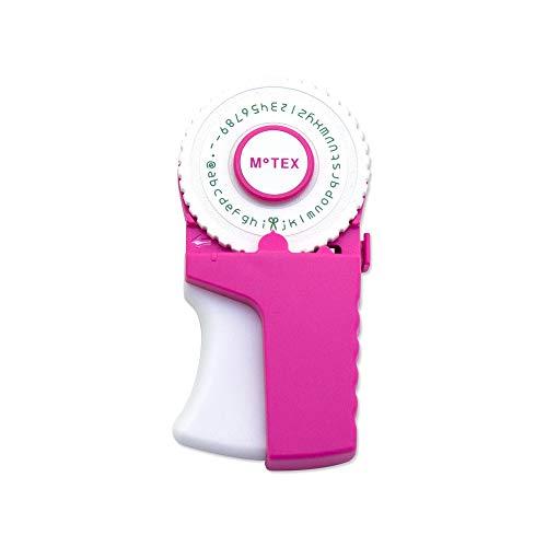 Motex–Cinta de E-303rosa relieve, diseño de emoticonos etiqueta eléctrica
