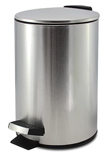 GREATOOL Cubo de Basura con Pedal, 3L, Acero Inoxidable, Papelera Cubo Basura (3 Litros, Plata)