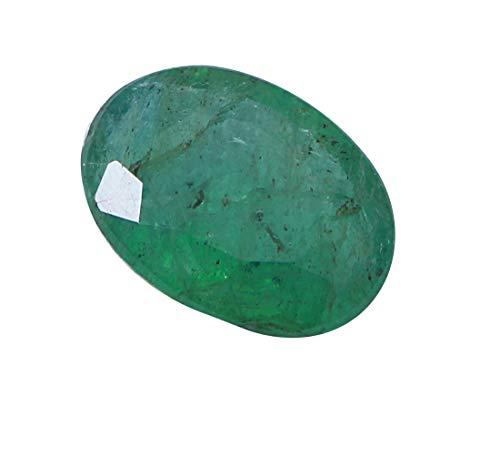 Jaipur Gems Mart 3.10Cts sfaccettato ovale forma di taglio buon lustro dello Zambia naturale smeraldo pietra preziosa allentata Pezzo per Ring monili che fanno Dimensioni 11,70 x 8,70 x 4,50 mm