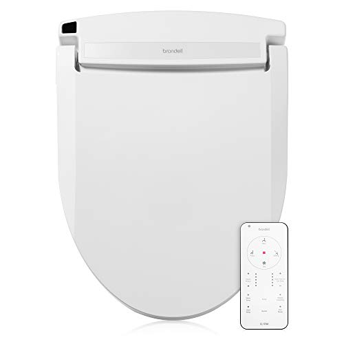 Brondell CL1700 Swash Elongated Advanced Bidet Seat, Fits Elongated Toilets, White