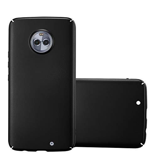 Cadorabo Hülle für Motorola Moto X4 in Metall SCHWARZ – Hardcase Handyhülle aus Plastik gegen Kratzer & Stöße – Schutzhülle Bumper Ultra Slim Back Hülle Hard Cover