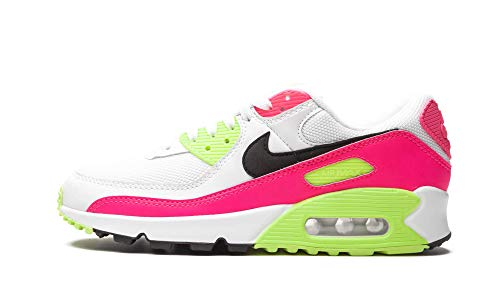Nike Air Max 90 Casual Zapatillas de running para mujer Ct1030-100, Blanco/Negro-Rosa Blast-Ghost Verde, 6 US