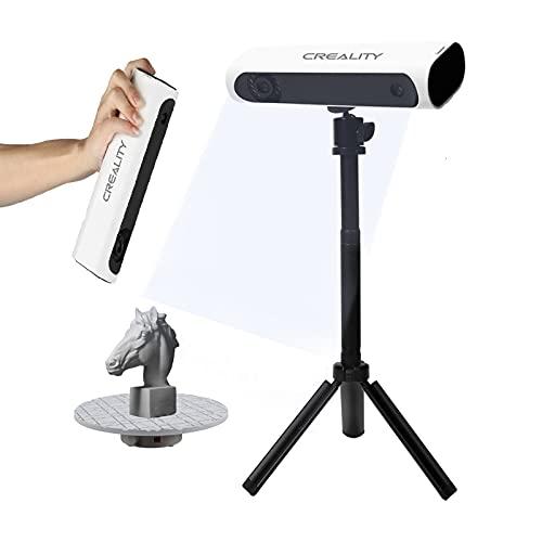 Creality 3D Kit de Escáner, 3D CR-Scan01 con Trípode de Mesa Giratoria, Manual Y Mesa Giratoria, Escaneo de Alta Precisión Con 0,1 Mm de Precisión, Escáner 3D Profesional Para Impresión 3D, Industria
