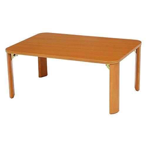 不二貿易 折りたたみ ローテーブル 幅90cm ナチュラル 木製 12842